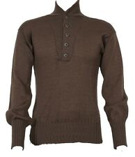 GI Army Brown Sweater 5 Button (OD Green) Genuine Us Military Wool Sweater