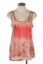 Tie Dye Relaxed Tank Top Tunic Keyhole Back Cutout Straps High Low Hem NWT S M L