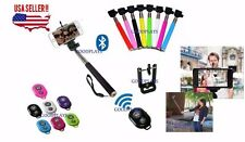 Bluetooth Shutter Extendable Handheld Selfie Stick Monopod Samsung iPhone 5S 6