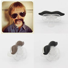 Mini Baby Infant Pacifier The Cowboy The Gentleman Binkie Mustache Beard