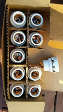 10 Vintage Hubbell Porcelain Light Sockets Receptacles 4229 NOS