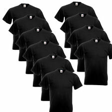 10er Schwarz Fruit of the Loom T-Shirt Shirt V-Neck Shirts V-Ausschnitt