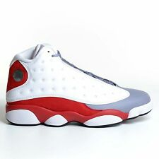 AIR JORDAN 13 RETRO GREY TOE 2014 WHITE BLACK TRUE RED XIII DS NIKE 414571-126