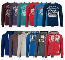 Tokyo Laundry New Men's Hoodies & Sweatshirts Crew Shawl Hooded Neck Zip Tops