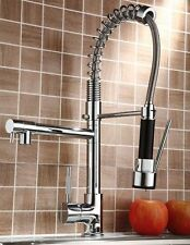 Kitchen Swivel Spout Faucet Pull Down Sink Spray Mixer Tap Chrome Sprayer Handle