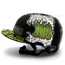 Motorcycle Helmet Decal Sticker Snowboarding Biker Hard Hat Sticker-Shark DOG 07