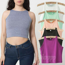 Sexy Women's Crop Belly Top Vest Sleeveless Midriff Shirt Blouse Top Tank 6Color