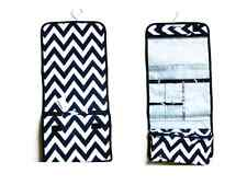 Jewelry Makeup Travel Bag (Chevron), Case, Organizer, Roll up, Hanging, Zippers
