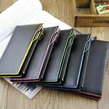 Hot Men Long Leather Wallet Pockets Money Purse ID Credit Card Clutch Bifold U56