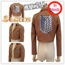 New Attack on Titan Anime Cosplay Costume Jacket Coat Outfit 5 Styles in Stock