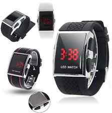 Fashion Men's LED Date Digital Mens Water Resistant Sport Black Wrist Watch