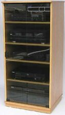 Stereo Cabinet  with Glass Doors Audio Rack Entertainment Center 50 inches high