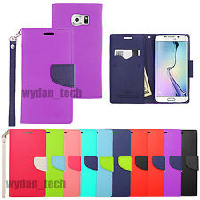For Samsung Galaxy Leather Flip Wallet Case Cover Stand S6 Edge Note 4 Avant