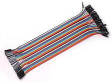 40PCS Jumper Wire Cable 1P-1P 2.54mm 20cm For Arduino Breadboard Sale New  F5