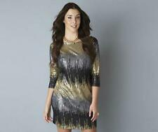 BNWT NEW LADIES TG SEQUIN DRESS GOLD SILVER BLACK SIZES 26 28 32 PARTY PLUS SIZE