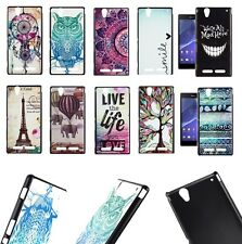For Sony Xperia T2 Ultra thin Colorful Painted Protective Back Skin Case Cover