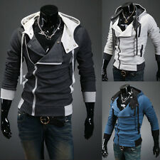 Men's New Long Sleeve Fashion Slim Fit Hooded Casual Hoodies Outwear Coat Jacket
