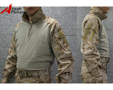 Tactical Military US Army Camouflage Shirt Combat Long Sleeve T-Shirt AOR1 Camo