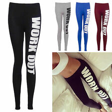 Womens Work Out Leggings Ladies Gym Yoga Fitness Stretch Footless Legging