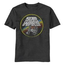 Star Wars Logo T-Shirt Tie Fighter & X-Wing Retro Style, Distressed - All Sizes