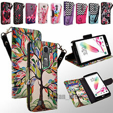 Design Leather Credit Card Holder Wallet Case Flip Pouch Cover for LG Phones