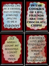 FAMILY FRIENDS FRIDGE MAGNETS #1 DAD GRANDPA MOM BROTHER FRIENDS SISTER SON