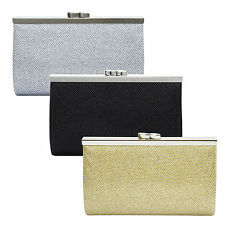Ladies Evening Party Clutch Bag Wedding Purse Clip Clasp Crossbody Bag Handbag