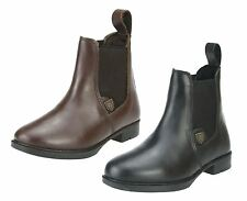 Sherwood Forest Junior Boys Girls Leather Riding Jodhpur Brown Black Boots