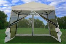 Screened Canopy Mosquito Bug Net Tent Pop Up Gazebo Outdoor Event Dining Party