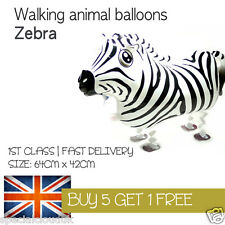 ZEBRA WALKING PET BALLOON ANIMAL AIRWALKER BIRTHDAY KIDS FARM FUN