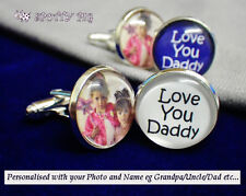 Personalised Mens Cufflinks, YOUR PHOTO, Gift Fathers Day Birthday Dad Husband