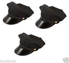 LIMO CHAUFFEUR DRIVER PEAKED HAT CAP FANCY DRESS ACCESSORIES