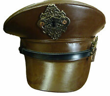Steampunk SDL brown military hat with copper keyhole and frame detail
