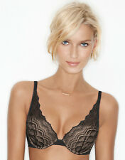 Wonderbra My Pretty Push Up Black Lace Bra *Increases Cup By 1 Size*