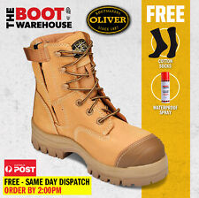 Oliver Work Boots, 45632z, Zip / Lace-Up, Non-Metal Toe Cap Safety  PRE ORDER