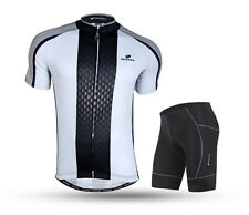 Pro Team Men Breathable Cycling Jersey Shorts Set Short Sleeve Bike Bicycle Wear