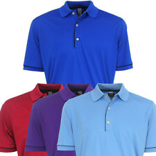 Greg Norman Men's ProTek Micro Luxe Solid Polo Golf Shirt - Brand New