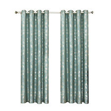 Charlotte Jacquard Grommet-Top Curtain Panels (Available in 4 Sizes)