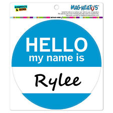MAG-NEATO'S™ Car Refrigerator Vinyl Magnet Hello My Name Is Ro-Ry