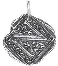 Waxing Poetic SQUARE Insignia Charm Sterling Silver Letter J K L M N O P Q