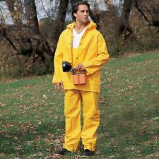 River City Garments Classic PVC Polyester Yellow 3-Piece Rain Suit Only