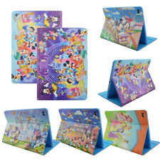 Disney Rotate Vaulting Horse Mickey Mouse Cartoon Leather Case Cover For iPad
