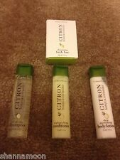 Lot 4 Crabtree & Evelyn Citron Honey + Coriander Shampoo Conditioner Lotion Soap