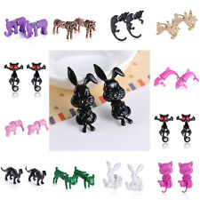 Fashion Punk Cool 3D Front Back Animal Piercing Earring Stud Lady Charms Gifts