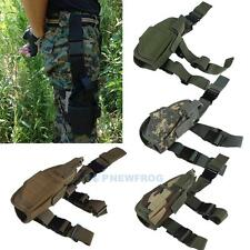 Military Airsoft Tactical Pistol Drop Leg Thigh Holster Bag Pouch Right Hand