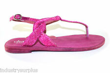 Charles by Charles David Yojana Fuchsia Leather Buckle Up Flats Sandals