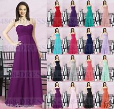 Long Chiffon Wedding Evening Formal Party Ball Gown Prom Bridesmaid Dress 6-18+