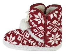 BNWT NEW LADIES SUPERSOFT FAIRISLE SLIPPERS BOOTS 5/6 7/8 FUR LINED WINTER XMAS