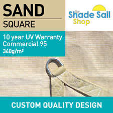 Shade Sails Custom made Style Sizes 340GSM fabric 10 Year UV SAND BLACK CHARCOAL