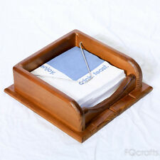 Wooden Napkin Holder - Sturdy Metal Stay